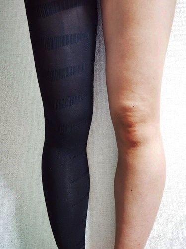 メディレギンスをを片足だけ履いてみた